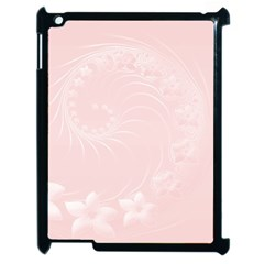 Light Pink Abstract Flowers Apple Ipad 2 Case (black) by BestCustomGiftsForYou