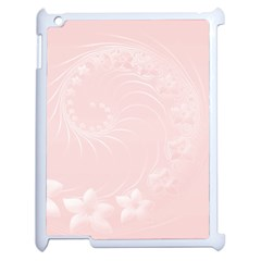 Light Pink Abstract Flowers Apple Ipad 2 Case (white) by BestCustomGiftsForYou