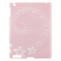 Light Pink Abstract Flowers Apple Ipad 3/4 Hardshell Case