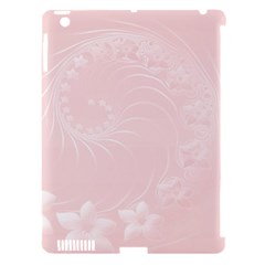 Light Pink Abstract Flowers Apple Ipad 3/4 Hardshell Case (compatible With Smart Cover) by BestCustomGiftsForYou