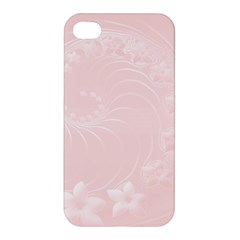 Light Pink Abstract Flowers Apple Iphone 4/4s Premium Hardshell Case by BestCustomGiftsForYou