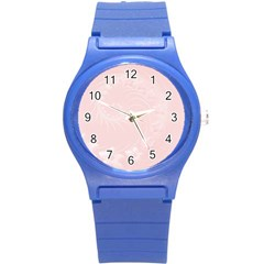 Light Pink Abstract Flowers Plastic Sport Watch (Small) by BestCustomGiftsForYou