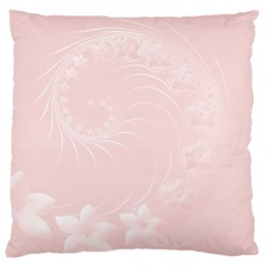 Light Pink Abstract Flowers Large Cushion Case (two Sides) by BestCustomGiftsForYou