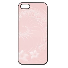 Light Pink Abstract Flowers Apple Iphone 5 Seamless Case (black) by BestCustomGiftsForYou