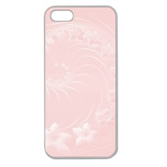 Light Pink Abstract Flowers Apple Seamless Iphone 5 Case (clear) by BestCustomGiftsForYou