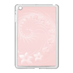 Light Pink Abstract Flowers Apple Ipad Mini Case (white) by BestCustomGiftsForYou
