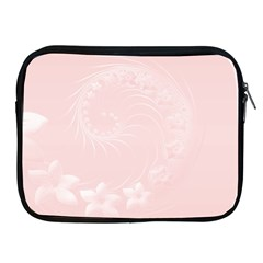 Light Pink Abstract Flowers Apple Ipad 2/3/4 Zipper Case by BestCustomGiftsForYou