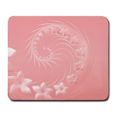 Pink Abstract Flowers Large Mouse Pad (rectangle) by BestCustomGiftsForYou