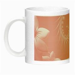 Pink Abstract Flowers Glow In The Dark Mug by BestCustomGiftsForYou