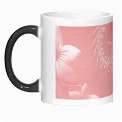 Pink Abstract Flowers Morph Mug by BestCustomGiftsForYou