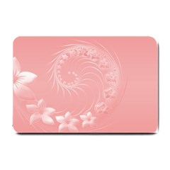Pink Abstract Flowers Small Door Mat