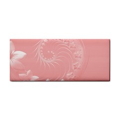 Pink Abstract Flowers Hand Towel by BestCustomGiftsForYou