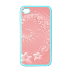 Pink Abstract Flowers Apple Iphone 4 Case (color) by BestCustomGiftsForYou