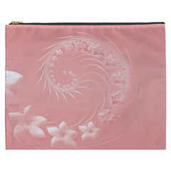 Pink Abstract Flowers Cosmetic Bag (xxxl) by BestCustomGiftsForYou