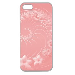Pink Abstract Flowers Apple Seamless Iphone 5 Case (clear) by BestCustomGiftsForYou