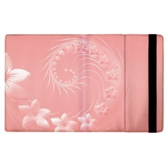 Pink Abstract Flowers Apple Ipad 2 Flip Case by BestCustomGiftsForYou