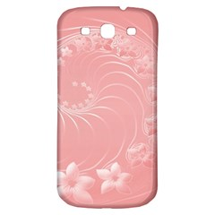 Pink Abstract Flowers Samsung Galaxy S3 S Iii Classic Hardshell Back Case by BestCustomGiftsForYou