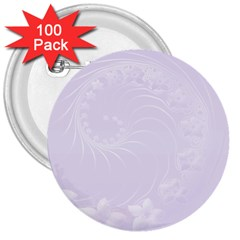 Pastel Violet Abstract Flowers 3  Button (100 Pack) by BestCustomGiftsForYou