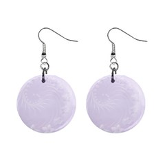 Pastel Violet Abstract Flowers Mini Button Earrings
