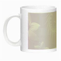 Pastel Violet Abstract Flowers Glow In The Dark Mug by BestCustomGiftsForYou
