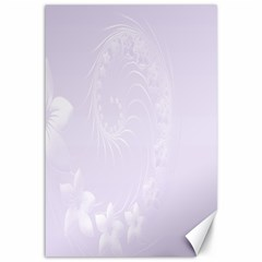 Pastel Violet Abstract Flowers Canvas 12  X 18  (unframed) by BestCustomGiftsForYou