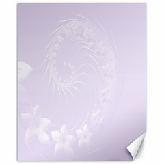 Pastel Violet Abstract Flowers Canvas 16  X 20  (unframed) by BestCustomGiftsForYou