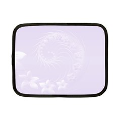 Pastel Violet Abstract Flowers Netbook Case (small) by BestCustomGiftsForYou