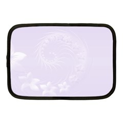 Pastel Violet Abstract Flowers Netbook Case (medium) by BestCustomGiftsForYou