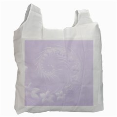 Pastel Violet Abstract Flowers Recycle Bag (one Side) by BestCustomGiftsForYou