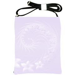 Pastel Violet Abstract Flowers Shoulder Sling Bag by BestCustomGiftsForYou