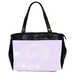Pastel Violet Abstract Flowers Oversize Office Handbag (two Sides) by BestCustomGiftsForYou