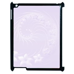 Pastel Violet Abstract Flowers Apple Ipad 2 Case (black) by BestCustomGiftsForYou