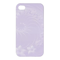 Pastel Violet Abstract Flowers Apple Iphone 4/4s Premium Hardshell Case by BestCustomGiftsForYou