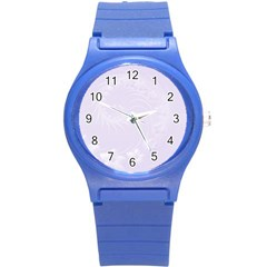 Pastel Violet Abstract Flowers Plastic Sport Watch (small) by BestCustomGiftsForYou