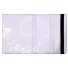Pastel Violet Abstract Flowers Apple Ipad 2 Flip Case by BestCustomGiftsForYou
