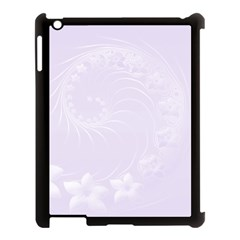 Pastel Violet Abstract Flowers Apple Ipad 3/4 Case (black) by BestCustomGiftsForYou