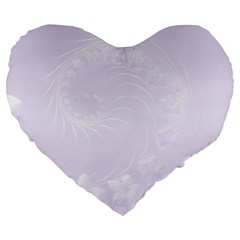 Pastel Violet Abstract Flowers 19  Premium Heart Shape Cushion