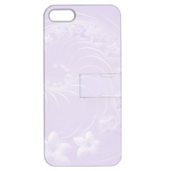 Pastel Violet Abstract Flowers Apple Iphone 5 Hardshell Case With Stand by BestCustomGiftsForYou