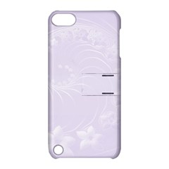 Pastel Violet Abstract Flowers Apple Ipod Touch 5 Hardshell Case With Stand by BestCustomGiftsForYou