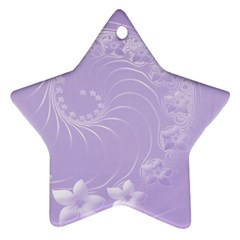 Light Violet Abstract Flowers Star Ornament by BestCustomGiftsForYou