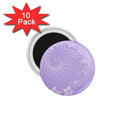 Light Violet Abstract Flowers 1 75  Button Magnet (10 Pack) by BestCustomGiftsForYou