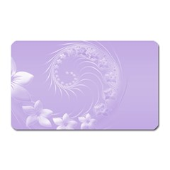 Light Violet Abstract Flowers Magnet (rectangular) by BestCustomGiftsForYou