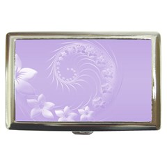 Light Violet Abstract Flowers Cigarette Money Case by BestCustomGiftsForYou