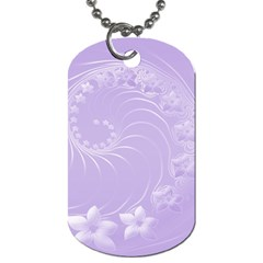Light Violet Abstract Flowers Dog Tag (two Sided)  by BestCustomGiftsForYou