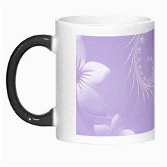 Light Violet Abstract Flowers Morph Mug by BestCustomGiftsForYou