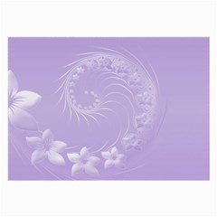 Light Violet Abstract Flowers Glasses Cloth (large) by BestCustomGiftsForYou