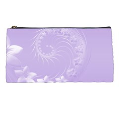Light Violet Abstract Flowers Pencil Case