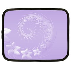 Light Violet Abstract Flowers Netbook Case (xl) by BestCustomGiftsForYou