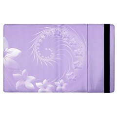 Light Violet Abstract Flowers Apple Ipad 2 Flip Case by BestCustomGiftsForYou