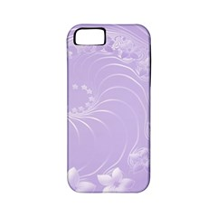 Light Violet Abstract Flowers Apple Iphone 5 Classic Hardshell Case (pc+silicone) by BestCustomGiftsForYou